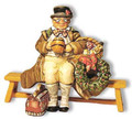 D034  Christmas Mr Pickwick Sitting on a Bench by King & Country (Retired)