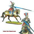 REN033 French Mounted Knight with Lance #1 by First Legion