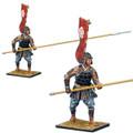SAM012a Ashigaru Standing with Nagae Yari and Tatami-do Armor - Oda Clan by First Legion (RETIRED)