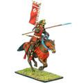 SAM021 Mounted Samurai Charging with Yari and Sashimono - Takeda Clan by First Legion