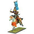 SAM022 Mounted Samurai Charging with Katana and Sashimono - Takeda Clan by First Legion