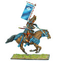 SAM024 Mounted Samurai Charging with Katana and Sashimono- Takeda Clan by First Legion