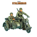 GERSTAL039 German BMW R75 Motorcycle Combination - 24th Panzer Division by First Legion