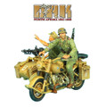 DAK016 German BMW R75 Motorcycle Combination - 21st Pz. Division Recon by First Legion