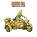 DAK017 German BMW R75 Motorcycle Combination - 15th Pz. Division Recon HQ by First Legion