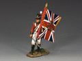 NA283 British Officer with Flag by King and Country
