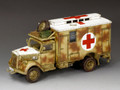 WH004 Opel Blitz Ambulance (Camouflage) by King and Country