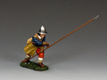 PnM002B Crouching Pikeman (Royalist) by King and Country