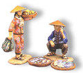 HK094  Old Man with Baskets plus Girl Carrying Bananas by King & Country (Retired)