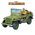 RUSSTAL037 Russian Land-Lease Willys Jeep with Driver by First Legion