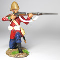 ZW-2004  24th Foot Private Kneeling Firing No. 1 by Empire Military Min.