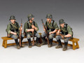 WH048.  WW2 Wehrmacht Sitting Soldiers by King and Country