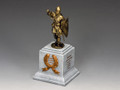 SP087-GR The Medieval Trumpeter on Square Statue Plinth (Greystone) (SP074 + SP087) by King and Country
