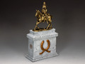 SP088-GR The Mounted Russian Officer on Large Equestrian Statue Plinth (Greystone) (SP075 + SP088) by King and Country