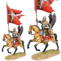 TYW005b  Polish Winged Hussar Battle Standard Bearer by First Legion