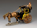 WoD058-1   Hansom Cab (Yellow) by King and Country