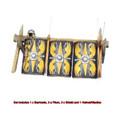 ROM183 Roman Shield Stack - Legio Augusta by First Legion (RETIRED)
