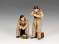 DD301  British Dismounted AFV (Armoured Fighting Vehicle) Crew Set #1 by King and Country