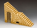 RF006(S) Roman Fort Stairs Section (Sandstone) by King and Country