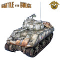 BB003  US 75mm Winter M4 Sherman Tank - 10th Armored Division by First Legion (RETIRED)