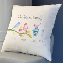 Birds Family Cushion Cover