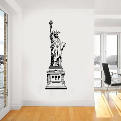Home · Wall Stickers · Living Room; Statue Of Liberty Decal. Image 1