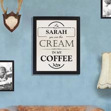 Cream in my Coffee Framed Print