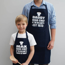 Head Chef and Sous Chef Aprons Set