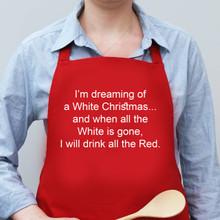 I'm Dreaming of a White Christmas... Apron