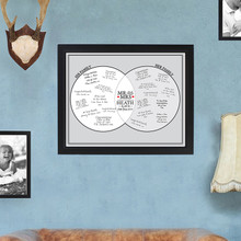 Mr & Mrs Framed Guestbook