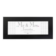 Decorative Wedding Mr & Mrs Framed Print