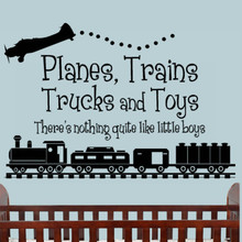 Planes & Trains Decal