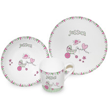Bunting Boy/Girl Breakfast Set