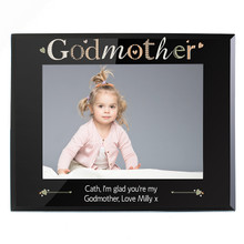 Relative Black Glass Photo Frame
