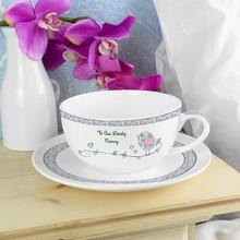 Floral Birds Teacup & Saucer