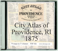 Hopkins Atlas of Providence City, Rhode Island, 1875, CDROM Old Map