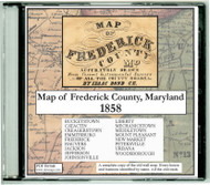 Map of Frederick County, Maryland, 1858, CDROM Old Map