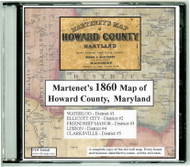 Martenet's Map of Howard County, Maryland, 1860, CDROM Old Map