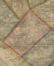 Upper Macungie Township, Pennsylvania 1865 Old Town Map Custom Print - Lehigh Co.