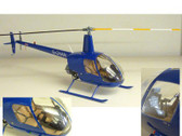 PK006 Custom Made Models with Interior Detail 1:18 Robinson R-22 Helicopter Blue G-CHAN