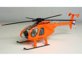 PK011 Custom Made Models with Interior Detail 1:36 Hughes 500E Helicopter Hitachi Capital 'Day-Glo' N5144Q