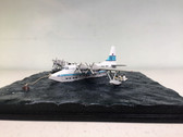 FB013 | Sky Classics Flying Boats 1:200 | Short S.45 Solent 4 Flying Boat Diorama TEAL Tasman Empire Airways New Zealand ZK-AMO (on a sea base)