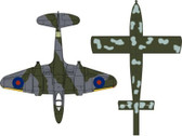 OXAC031 Oxford Die-cast 1:72 Gloster Meteor Set RAF Royal Air Force No. 616 Sqn. with Doodle Bug