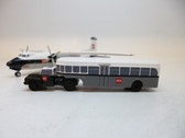 SCA003 | Sky Classics Airport Vehicles 1:200 | Bedford J5 Articulated Bus BEA 'Red Square' (grey/white) | available on request