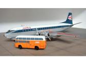 SCA010 | Sky Classics Airport Vehicles 1:200 | AEC Regal Passenger Coach Bus BEA (orange)