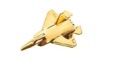 CL163   Plane Pin 3D - F-22 Raptor (gold-plated, with box)
