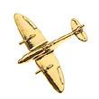 CL285  Lapel Pins   Lapel Pin Spitfire (golden)
