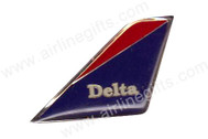 PIN063 | Lapel Pins | Tail Pin - Delta (blue and red 'Delta' tail)