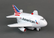 TT329-1 | Younger Selection | Pull Back Fun Plane - American Airlines (with light and sound)