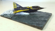 SF170A | SkyFame Models 1:200 | YF2Y-1 Sea Dart Seascape US Navy 137634, First Prototype, San Diego Bay, Early 50s (black/yellow, diorama)